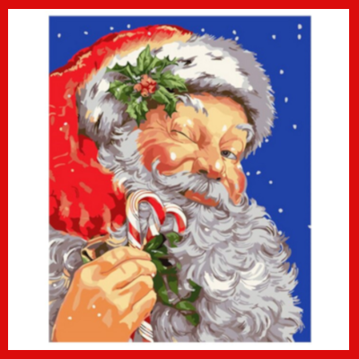 Gifts Actually - Paint By Numbers - (DIY Paint kit) -  Santa Claus