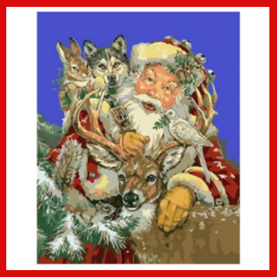 Gifts Actually - Paint By Numbers - (DIY Paint kit) - Santa and friends