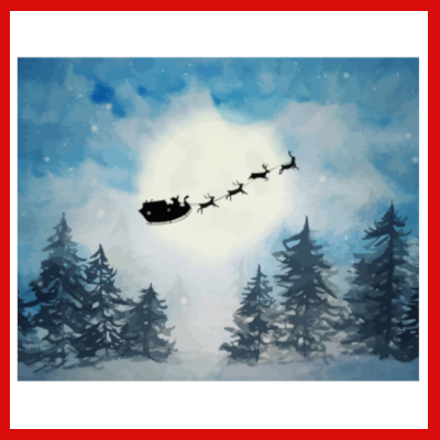 Gifts Actually - Paint By Numbers - (DIY Paint kit) - Santa and his sleigh