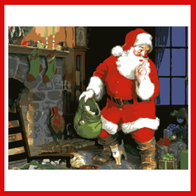 Gifts Actually - Paint By Numbers - (DIY Paint kit) -  Shh I'm Santa