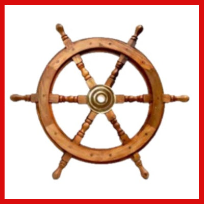 Gifts Actually - Ships Wheel - Hand Crafted