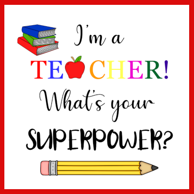 Gifts Actually - Key-ring - Teacher gift - I'm a Teacher what's you superpower (Personalised)