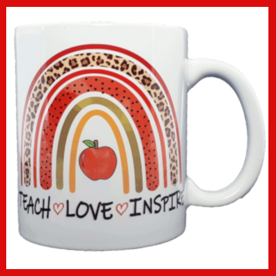Gifts Actually - Teacher Mug  - Thank You Rainbow