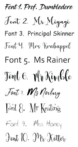 Gifts Actually - Keyring - Teacher gift - Font Selection (Personalised)