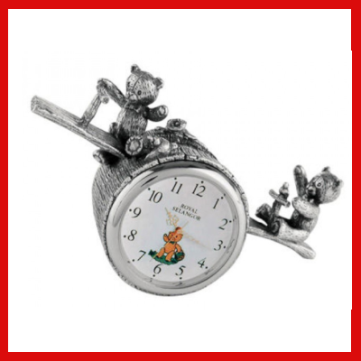 Gifts Actually - Royal Selangor Pewter- Teddy Bears Picnic Table Clock
