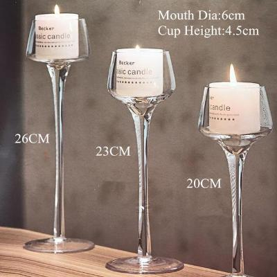 Gifts Actually - Handmade Votive Glass Stem Candle Holders - Set of 3