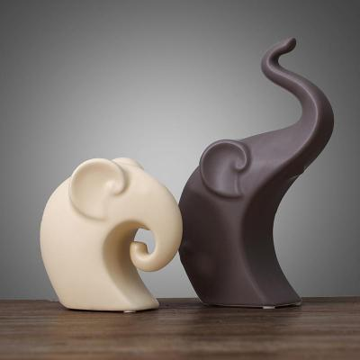 Gifts Actually - Ceramic Elephant Lovers (2 Piece)