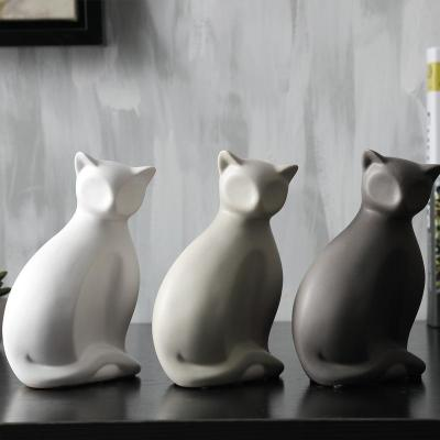 Gifts Actually - Ceramic and enamel Cat Statues - The Collection