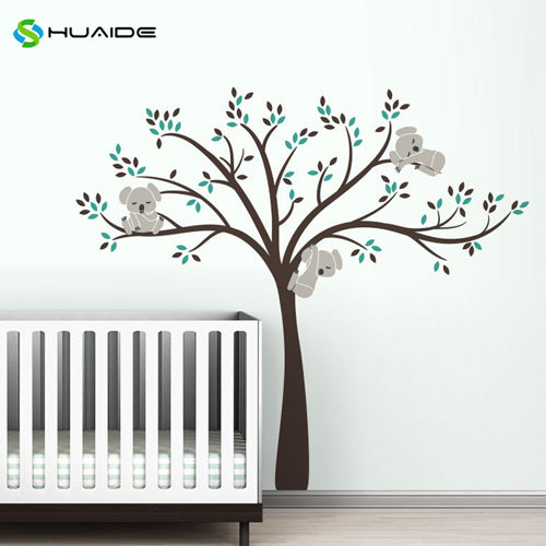Wall decal / Sticker - Koala Tree branches - D Brown / L Grey