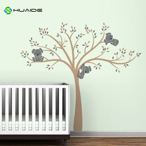 Wall decal / Sticker - Koala Tree branches - L Brown / D Grey