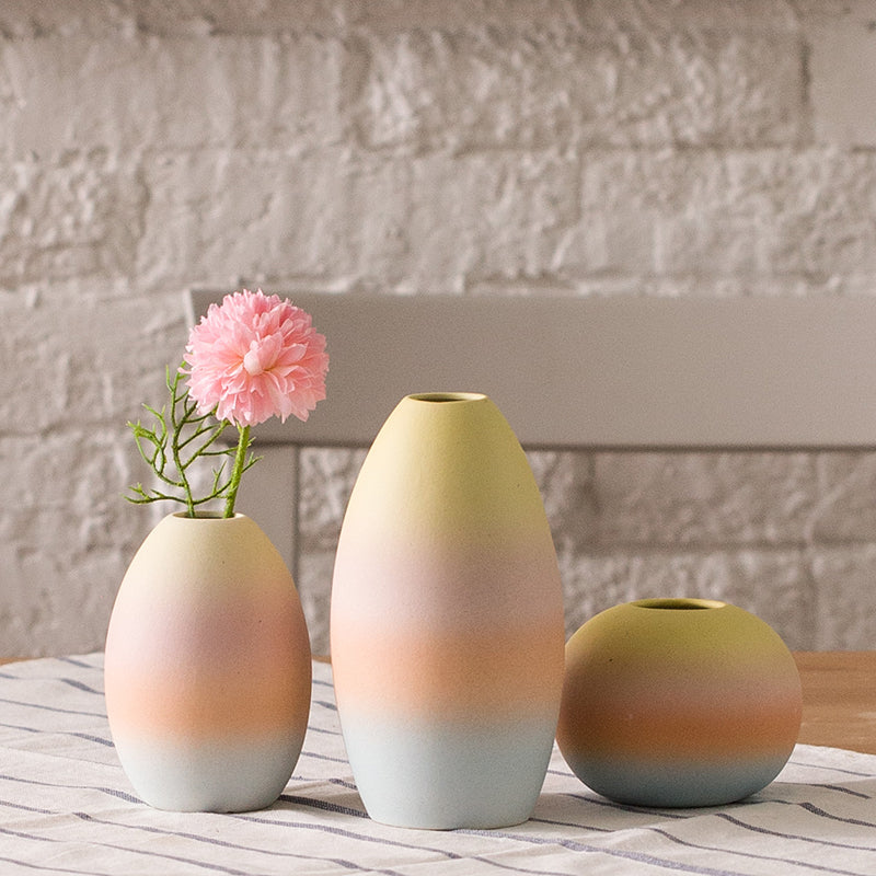 Gifts Actually - Vases - Euro Style - Rainbow coloured Ceramic vases
