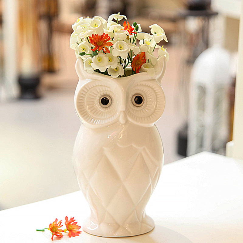 Gifts Actually - Vase - Ceramic Owl Flower Vase