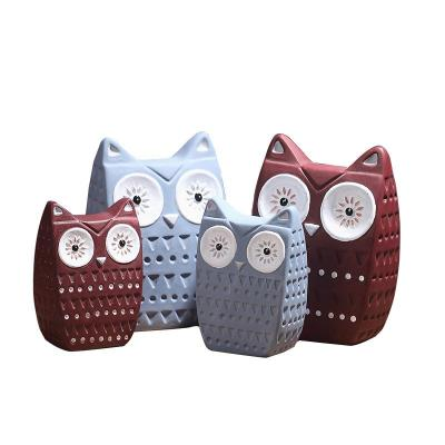 Gifts Actually - Ceramic Owls - Owl Family (set of 4) - Symbol of Wisdom