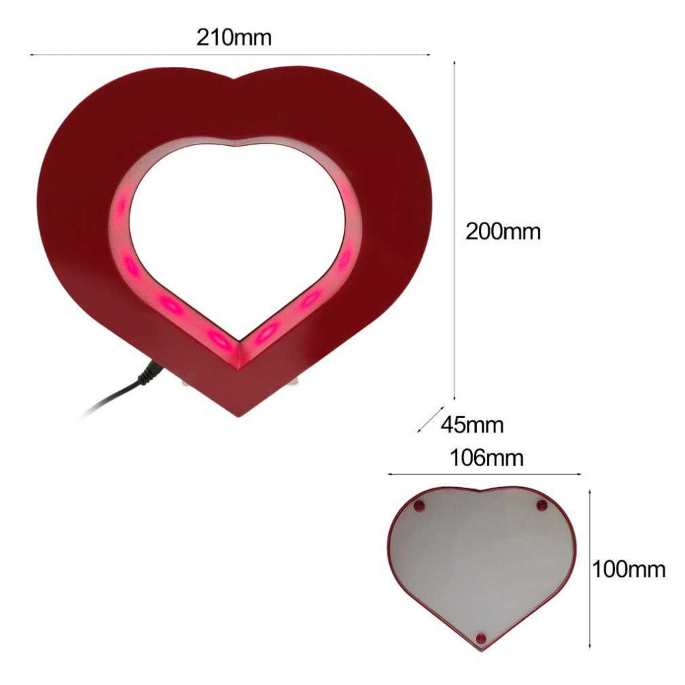 Photo frame -  Levitating Heart - Dimensions