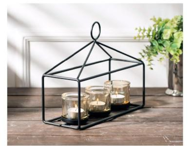 Gifts Actually - Candle Holder - Glass (Tea light / Votive) - Nordic Design - Trio Basket
