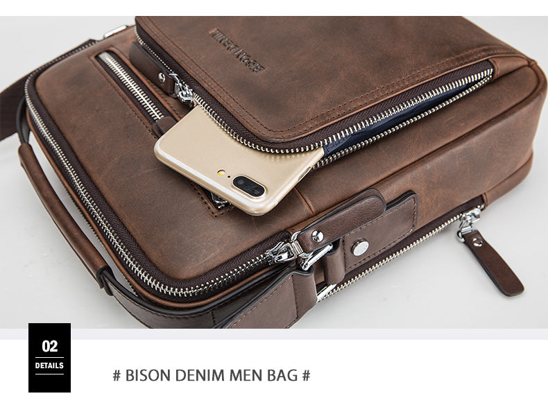 Gifts Actually - Men's Business Shoulder bag - Genuine Leather