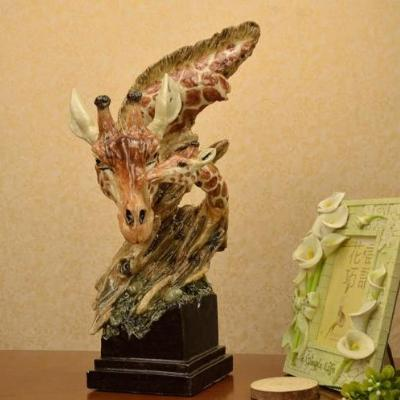 Gifts Actually - Giraffe Mother & Baby Abstract Sculpture