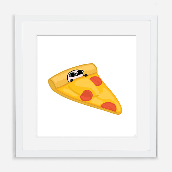 PIZZA (24 x 24) BY KETNIPZ (FRAMED WITH MAT)
