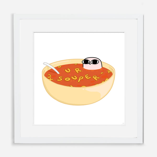 SOUP (24 x 24) BY KETNIPZ (FRAMED WITH MAT)