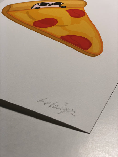 PIZZA (11 x 14) BY KETNIPZ (FRAMED WITHOUT MAT)