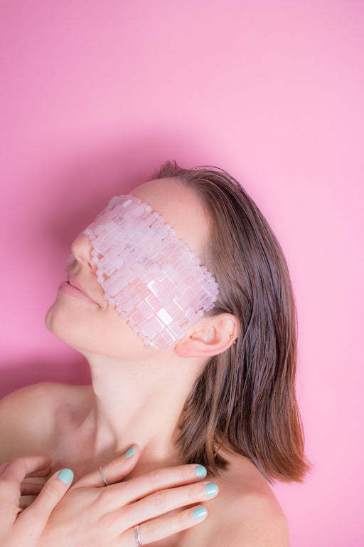 Limited Edition - Handmade Queen Bee Rose Quartz Eye Mask