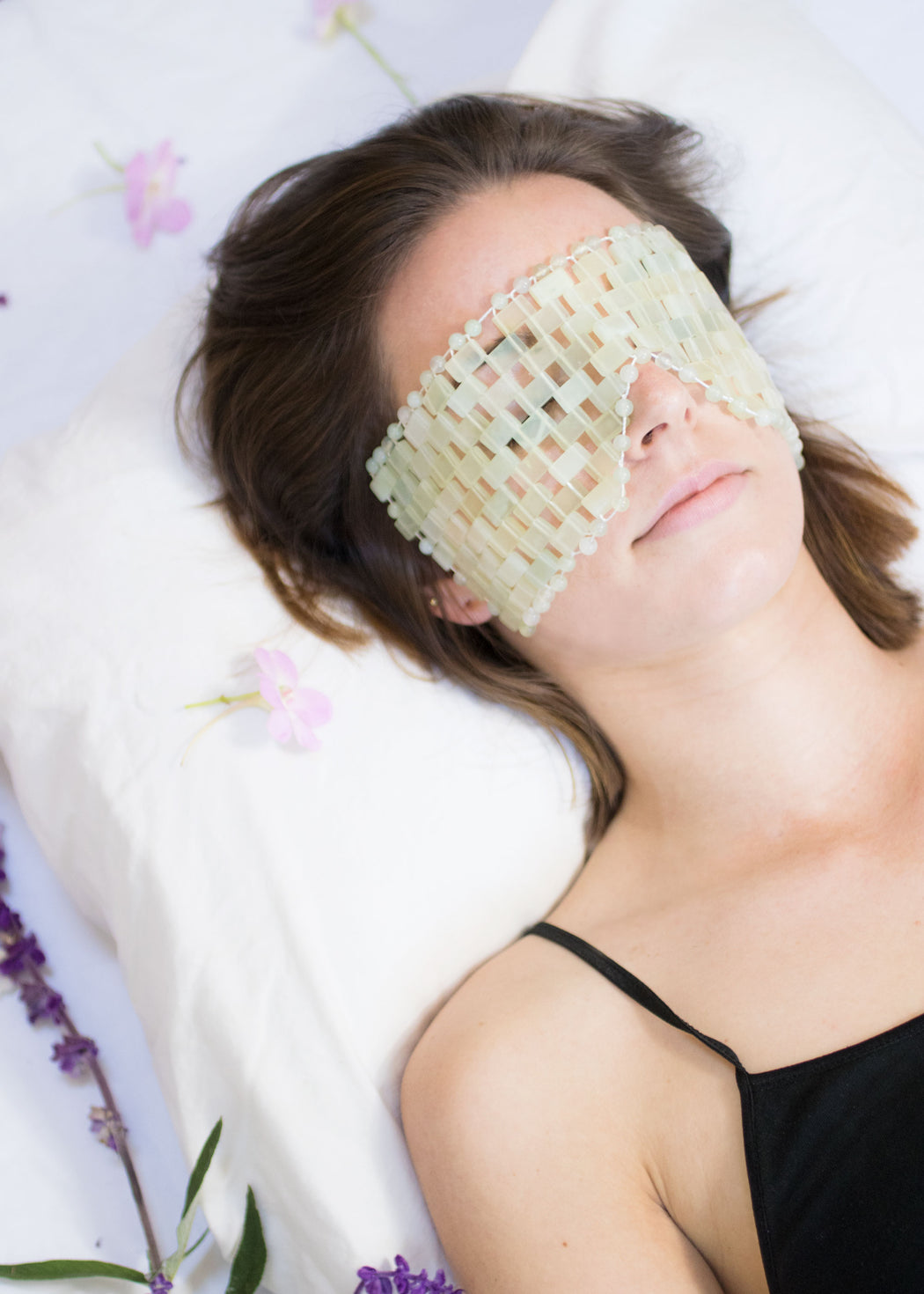 Limited Edition - Handmade Honey Bee Jade Eye Mask