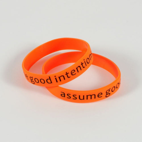 Assume Good Intentions Silicone Wristband Wristbands