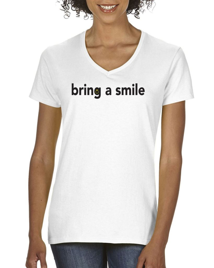 Bring A Smile Womens Tee T-Shirts
