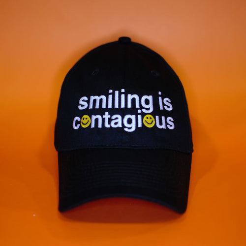 Smiling Is Contagious Ball Cap Baseball Caps