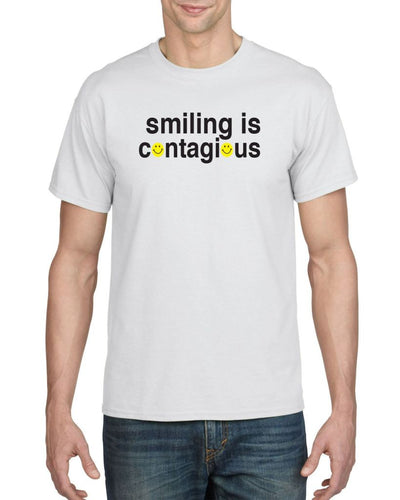 Smiling Is Contagious Mens Tee T-Shirts