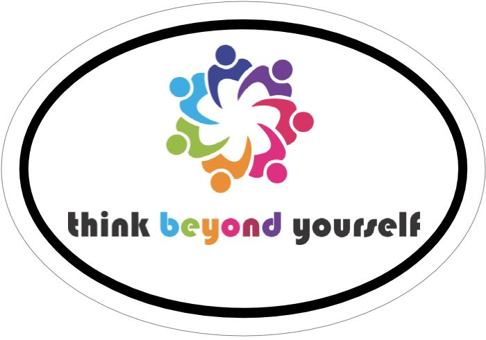 Think Beyond Yourself Color Vinyl Sticker Stickers & Decals