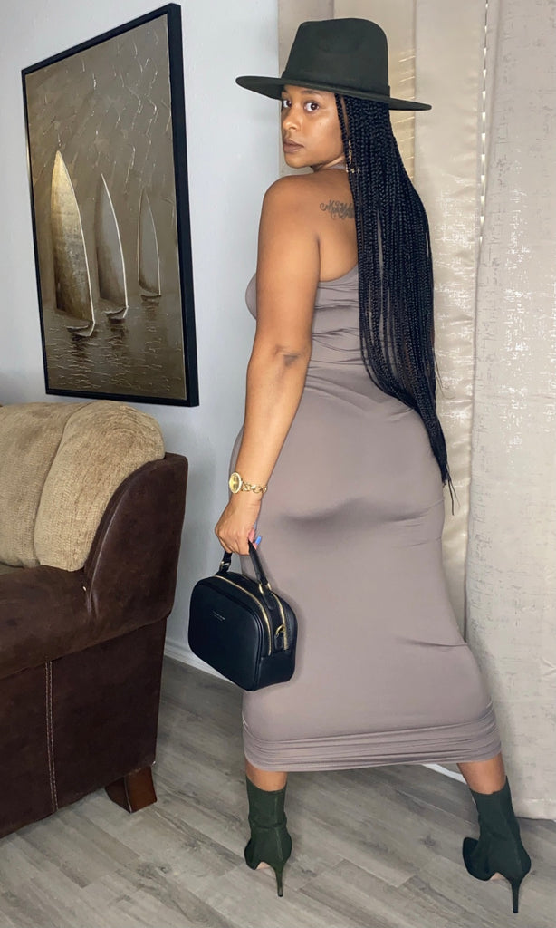 Taupe Racer Back Maxi
