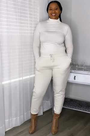 Bone Turtle Neck Jogger Set
