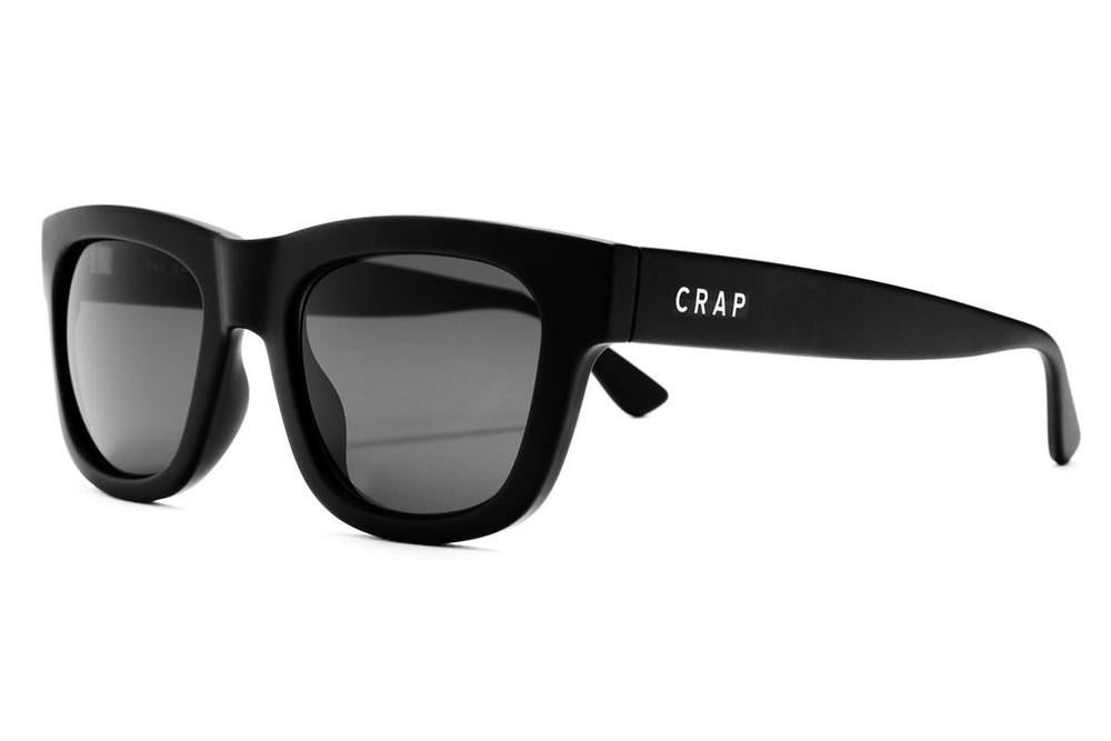 CRAP - The Garageland Flat Black w/ Grey CR-39 Lenses