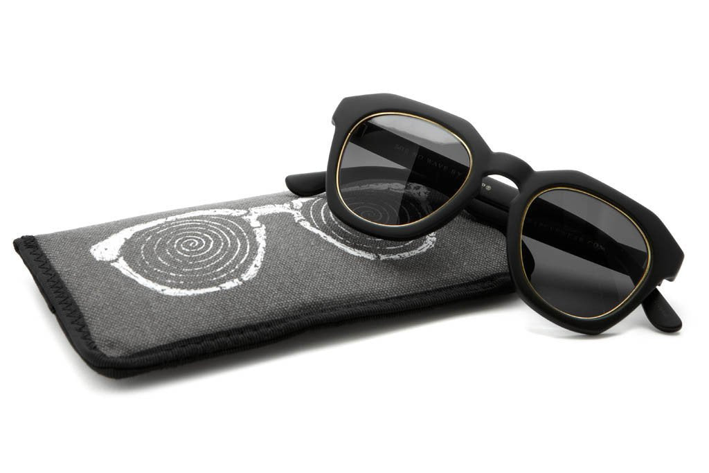 CRAP - The No Wave Flat Black w/ Gold Wire Wrapped Grey CR-39 Lenses
