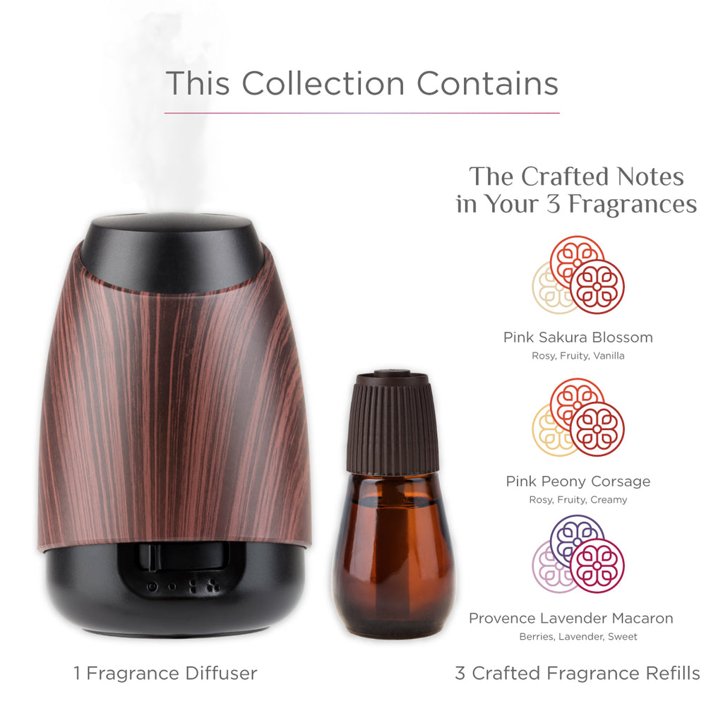black wood fragrance diffuser and refill