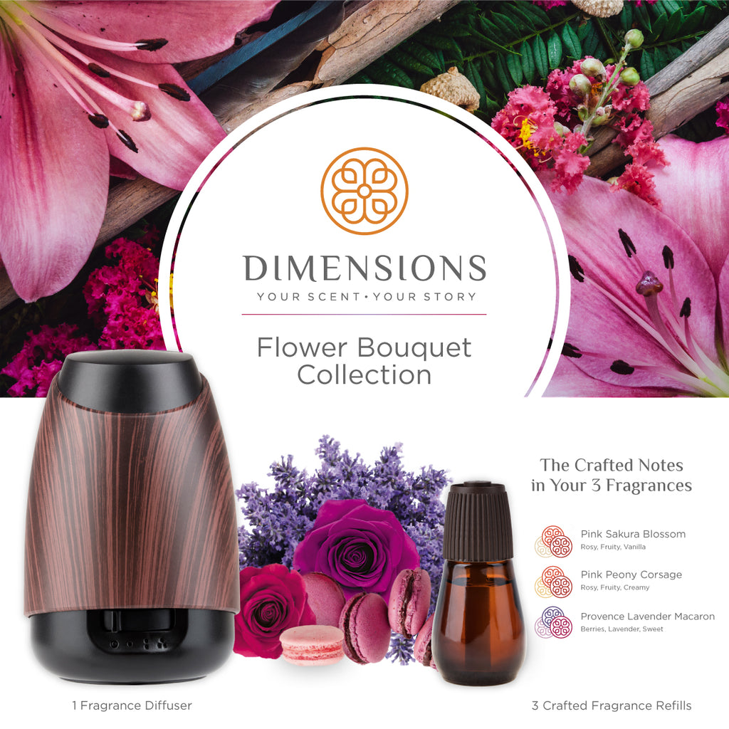 flower bouquet collection oil diffuser and fragrance notes