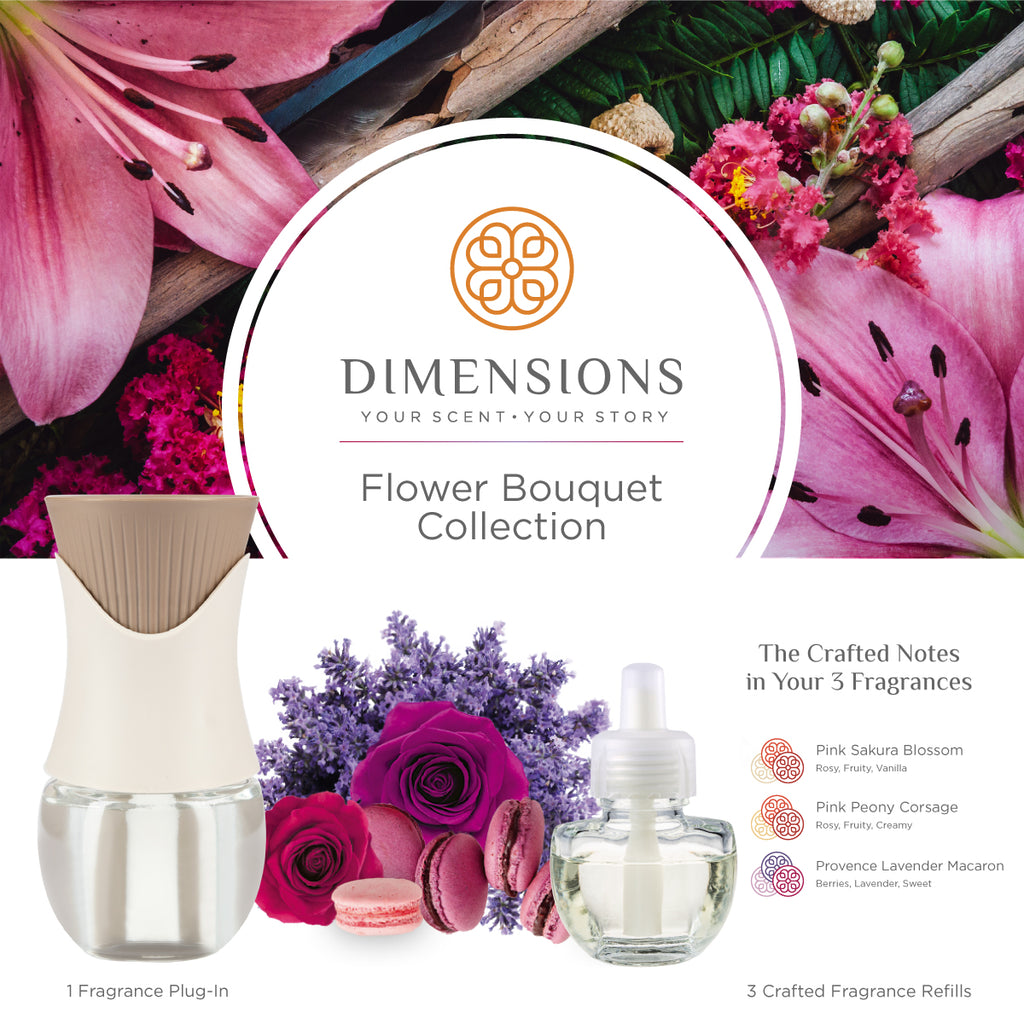 Flower Bouquet Collection with Fragrance Plug-in