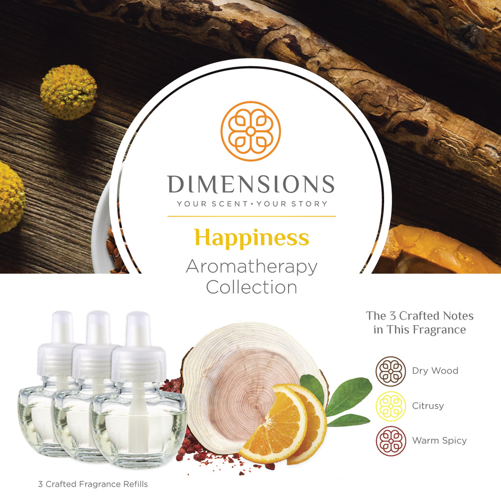 Happiness Aromatherapy Collection - Fragrance Plug-in Refills