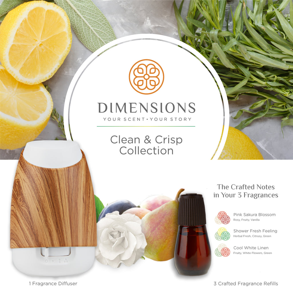 Clean & Crisp Collection with Diffuser