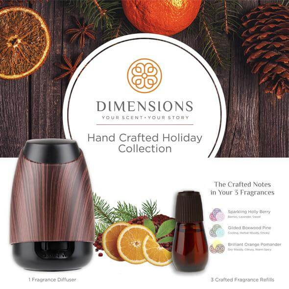 Hand Crafted Holiday Collection with Diffuser