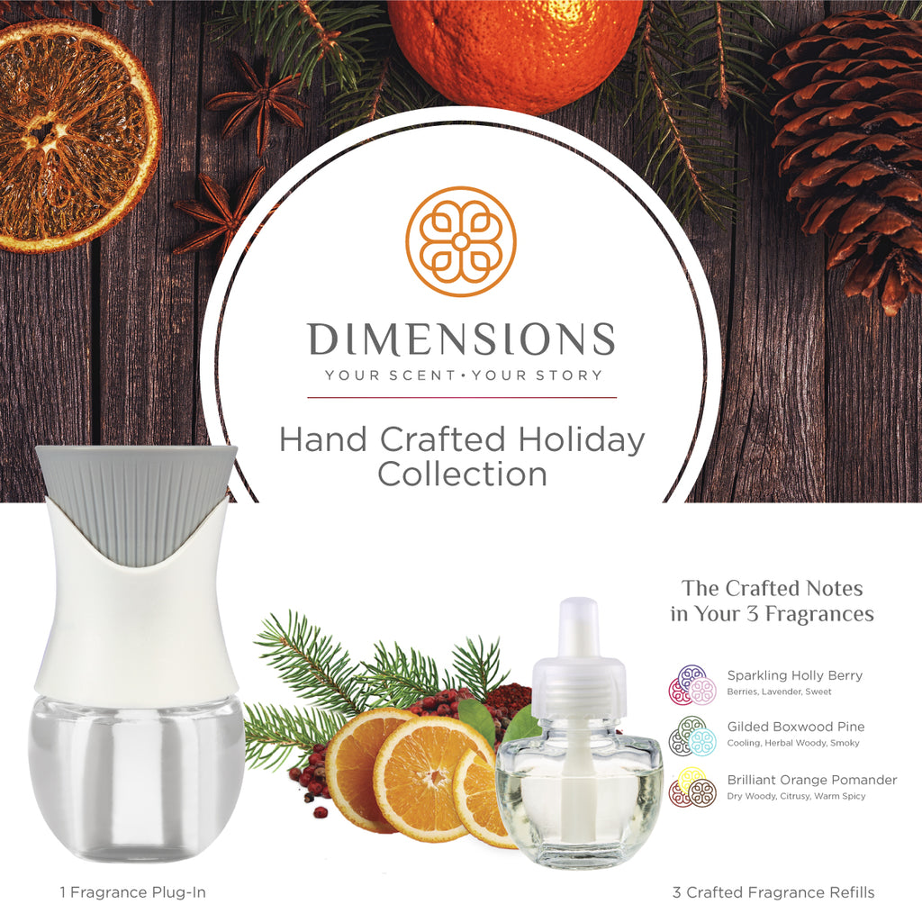 Hand Crafted Holiday Collection with Fragrance Plug-in