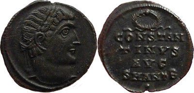 Roman Imperial Constantine I as augustus follis 324-325