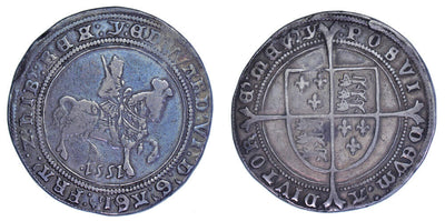 GB Edward VI HALF CROWN 1551