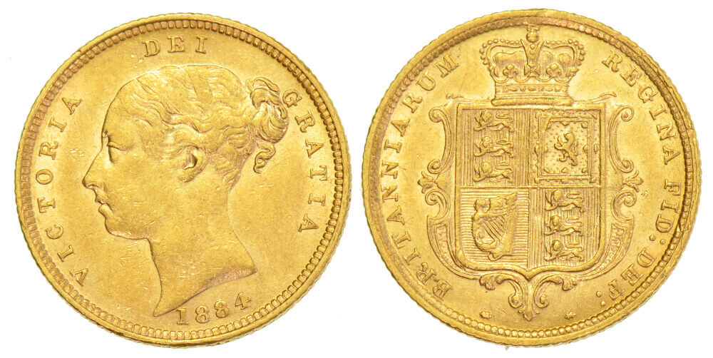 GB Victoria HALF SOVEREIGN 1884