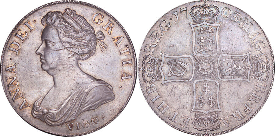 GB Anne VIGO Crown 1703