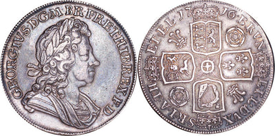 GB George I 1708 Crown