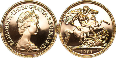 GB Elizabeth II 1981 Sovereign Proof