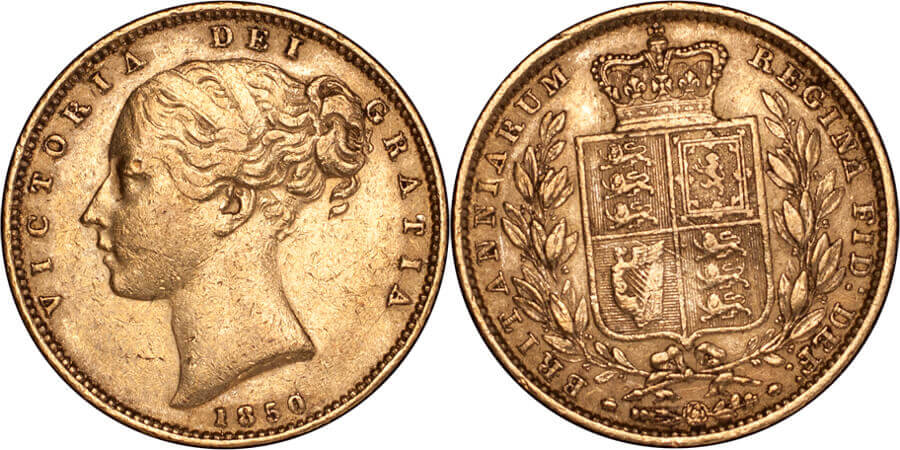 GB Victoria 1850 Sovereign