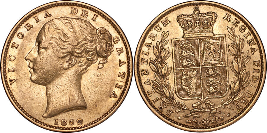 GB Victoria 1852 Sovereign